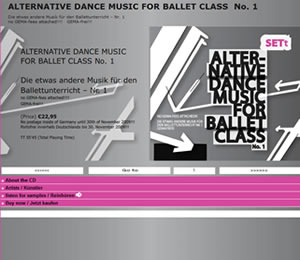 Dancemusic for Ballet-Class